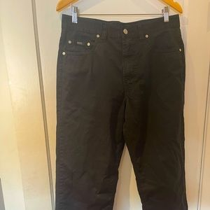 Hugo Boss Alabama 100% cotton black pants